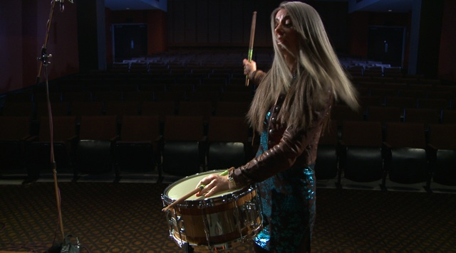 Evelyn Glennie filmed in 3D for the IMAX Just Listen Project
