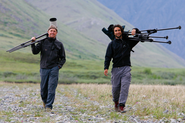 "Art Wolfe (left) and I in Alaska shooting for  ""Art Wofe's Travels to the Edge"" Photo: John Greengo"