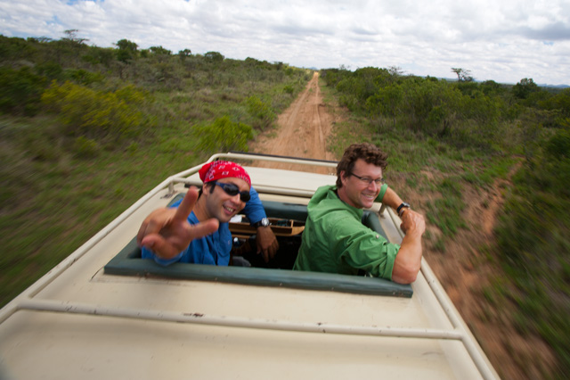 "On safari in Kenya with Karel Bauer for ""Art Wolfe's Travels to the Edge"" Photo: John Greengo"